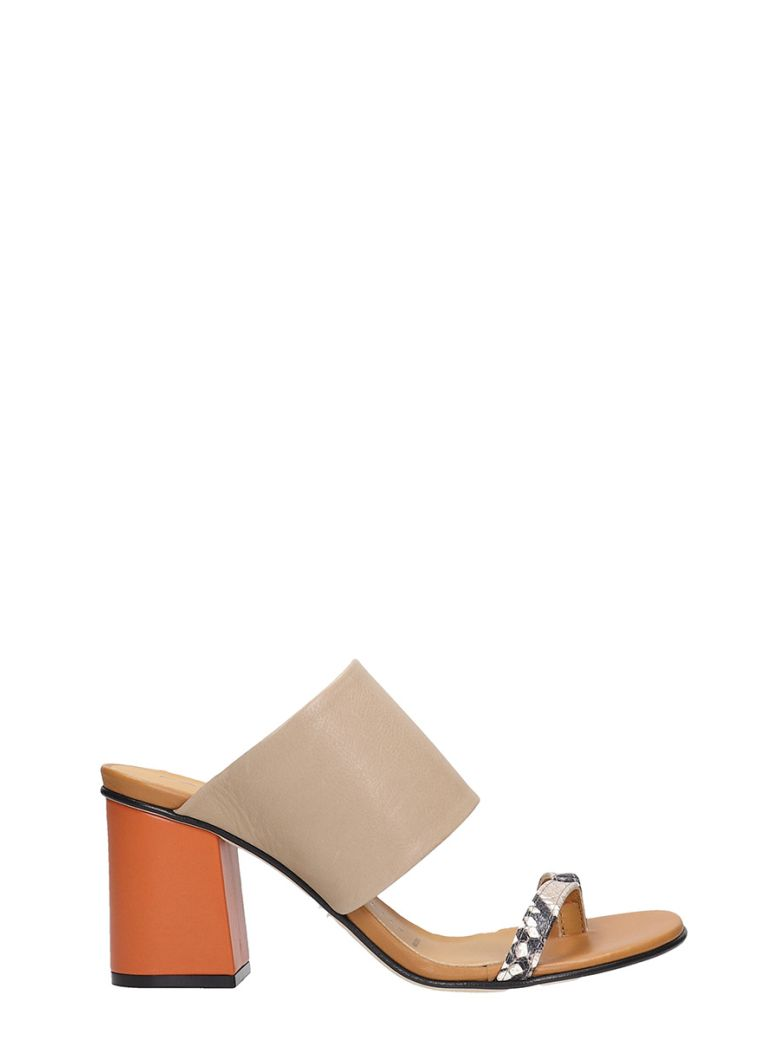 Fabio Rusconi Sandals In Taupe Leather - taupe
