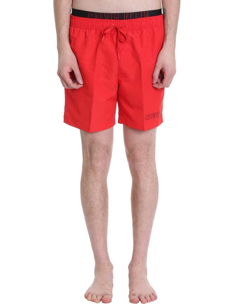 Calvin Klein Jeans Red Nylon Swimwear - red