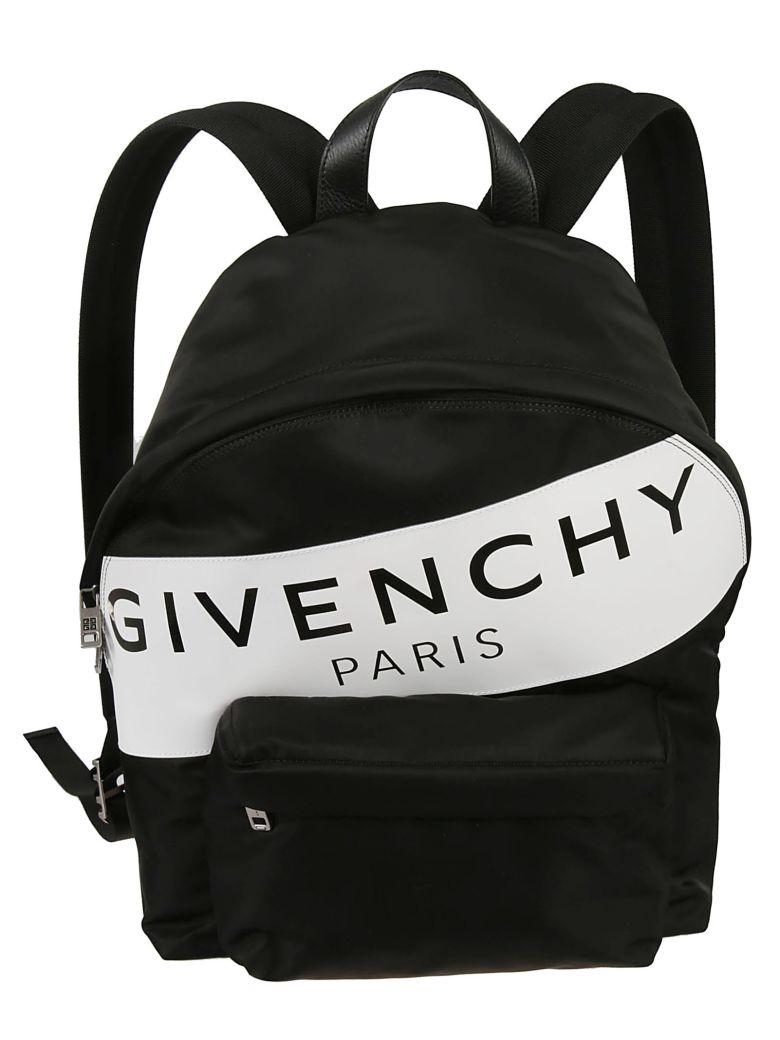 Givenchy Logo Stripe Backpack - Black White