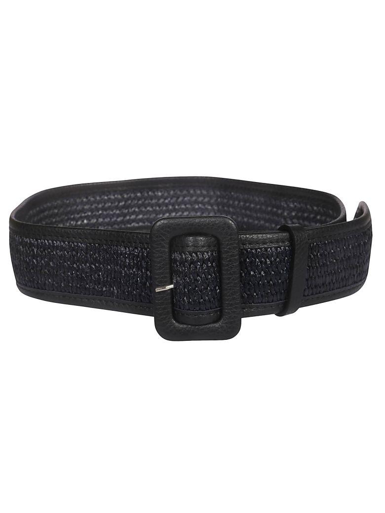 Golden Goose Raffia Belt - Black