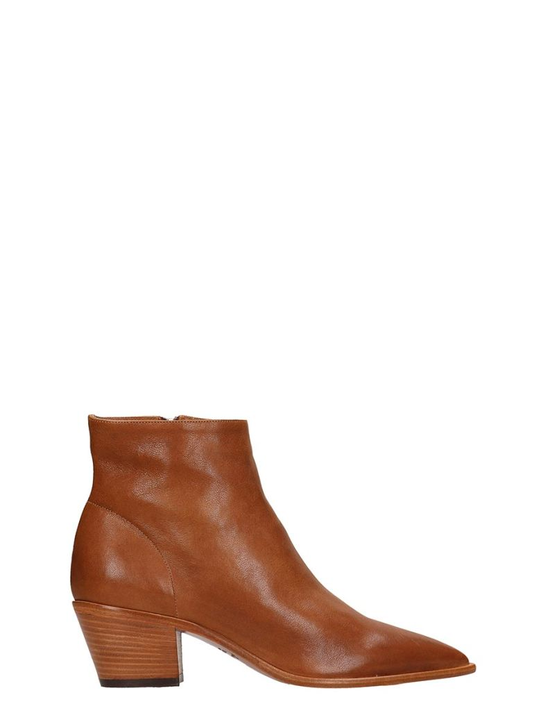 Julie Dee Choco Calf Leather Ankle Boots - Basic