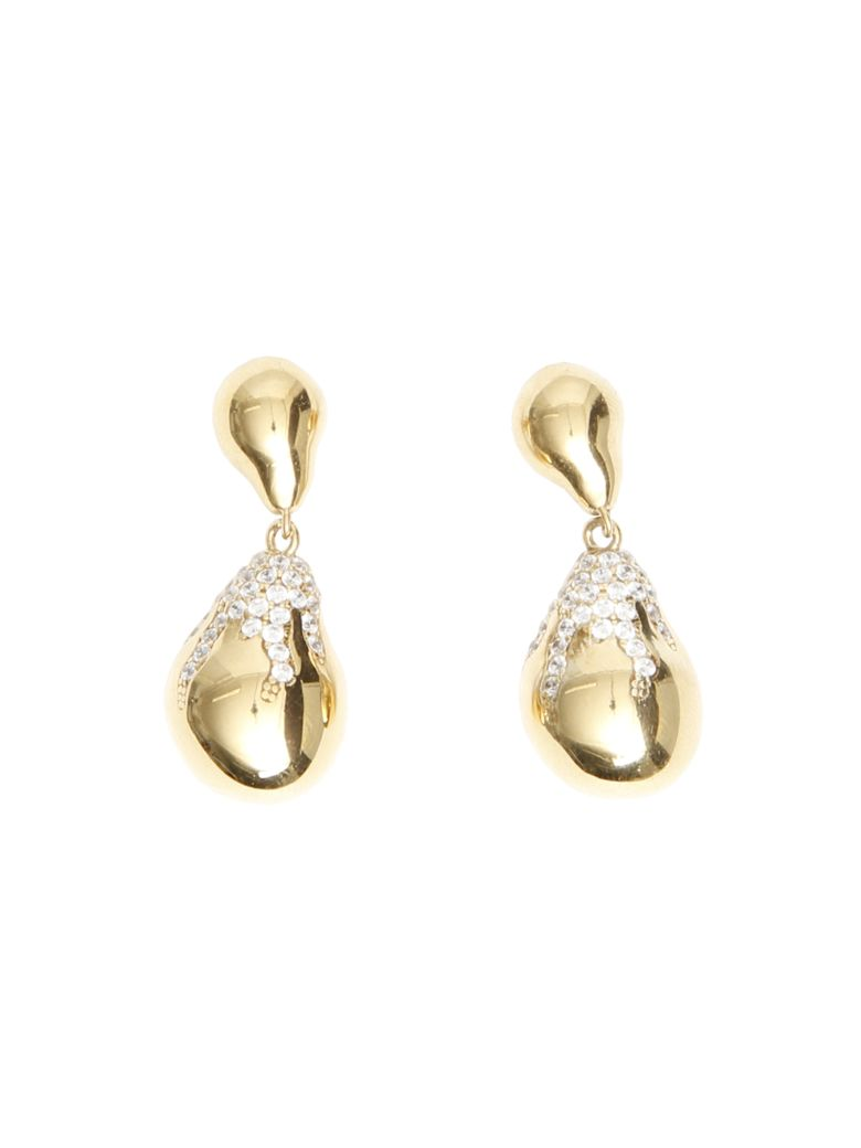 Bottega Veneta Pave Earrings - NATURALE (Gold)