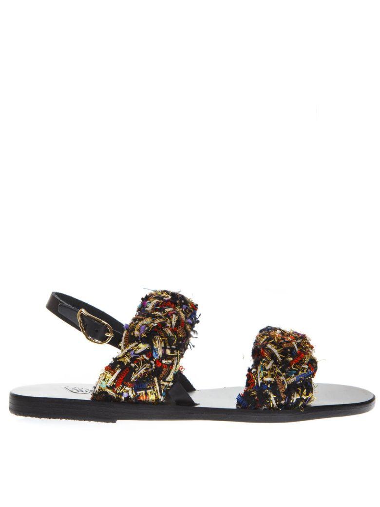 Ancient Greek Sandals Spianada Multicolor Woven Fabrci Sandals - Multicolor