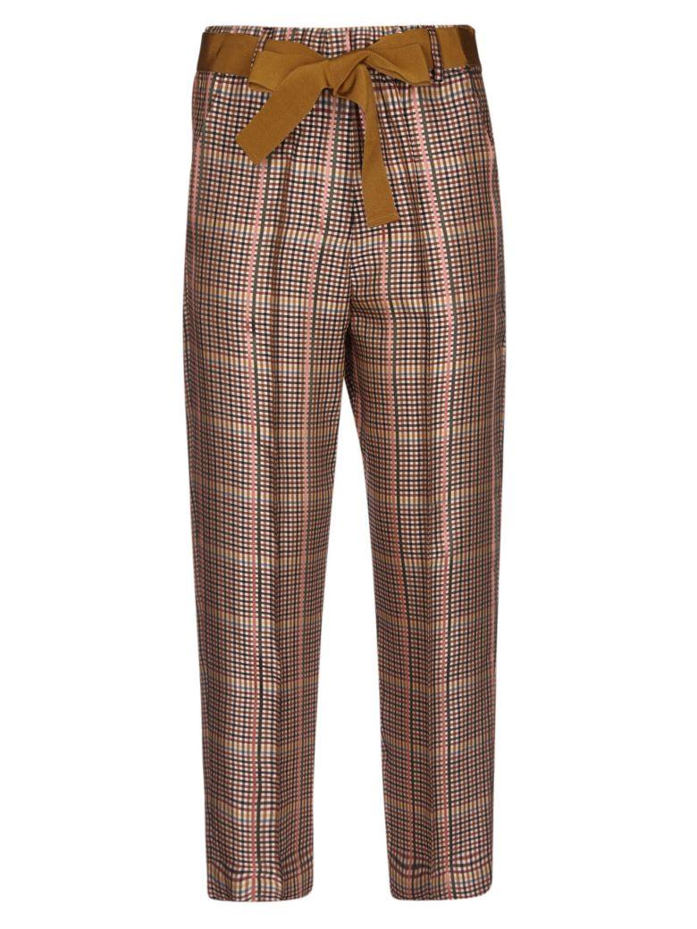 Alysi Checked Trousers - Multicolor