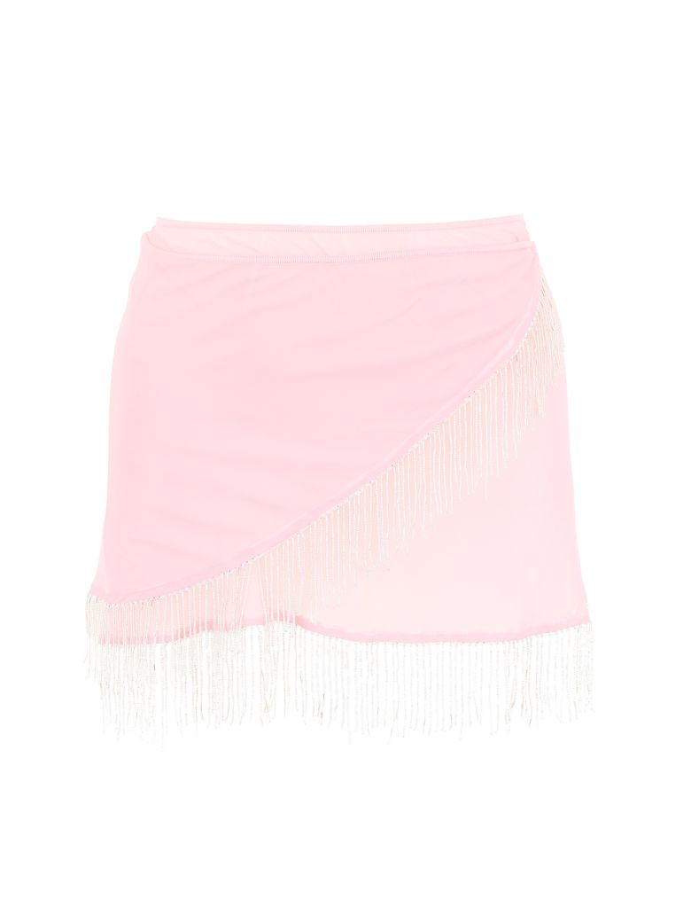 Oseree Pearls Collection Mini Skirt - PINK (Pink)