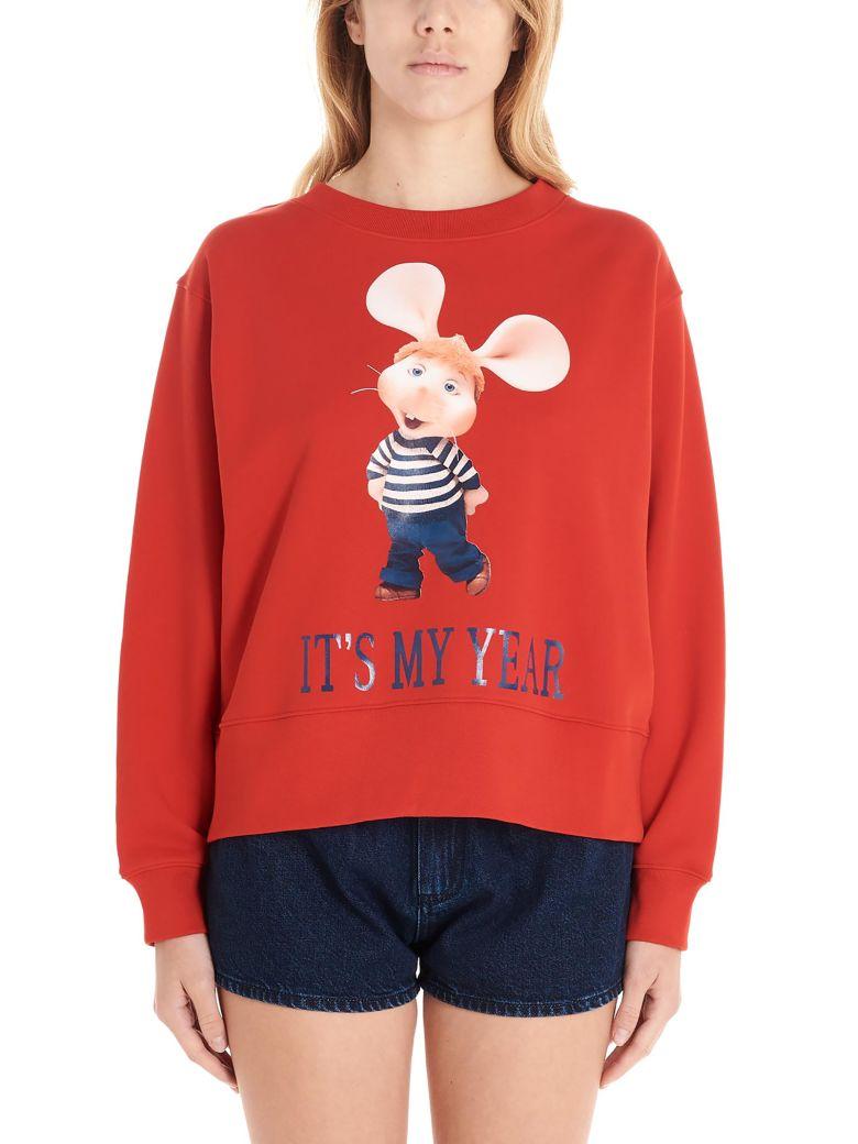 Alberta Ferretti 'topo Gigio It's My Year' Sweatshirt - Red