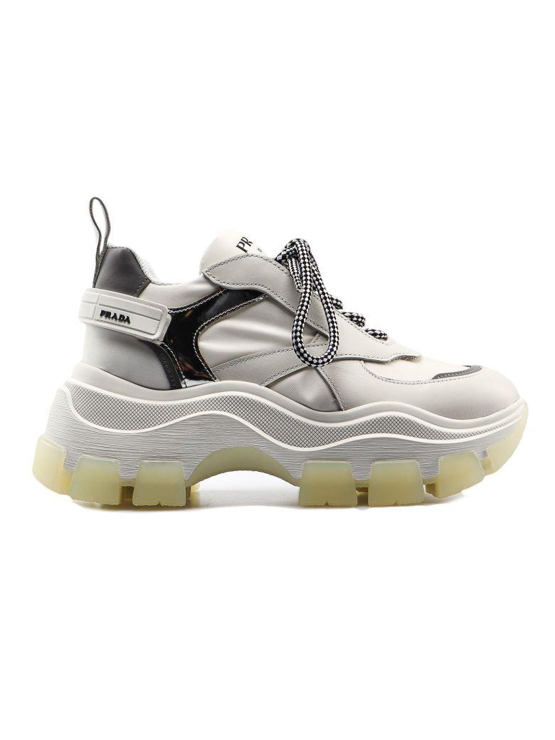 Prada Pegasus Sneaker 075 - Bianco+argento