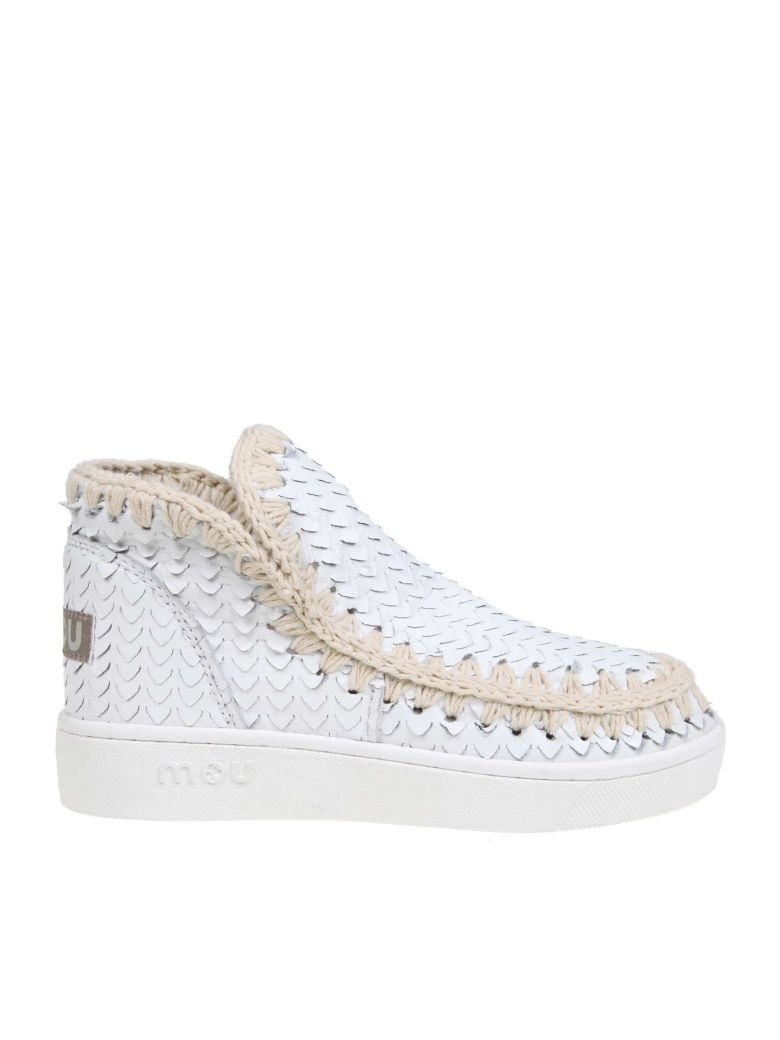 Mou Leather Mou Sneakers In White Leather - White