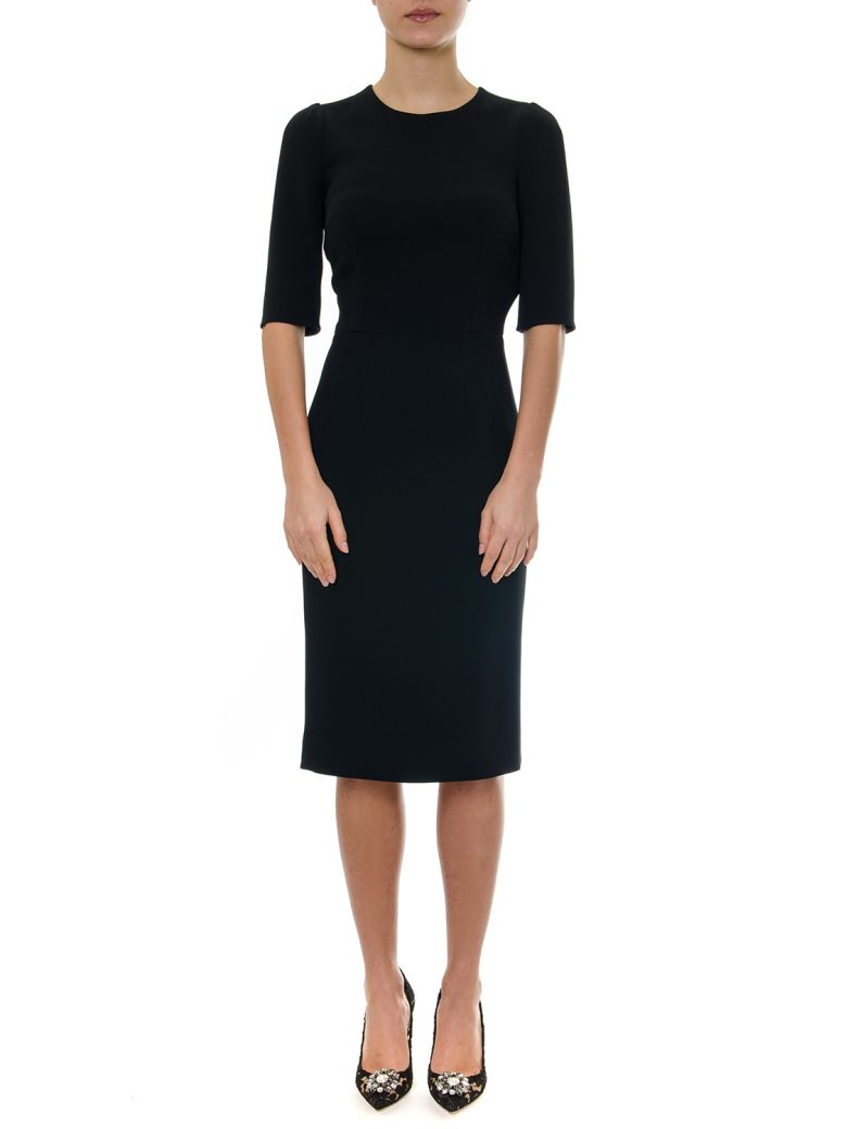 Dolce & Gabbana Black Midi Dress - Black