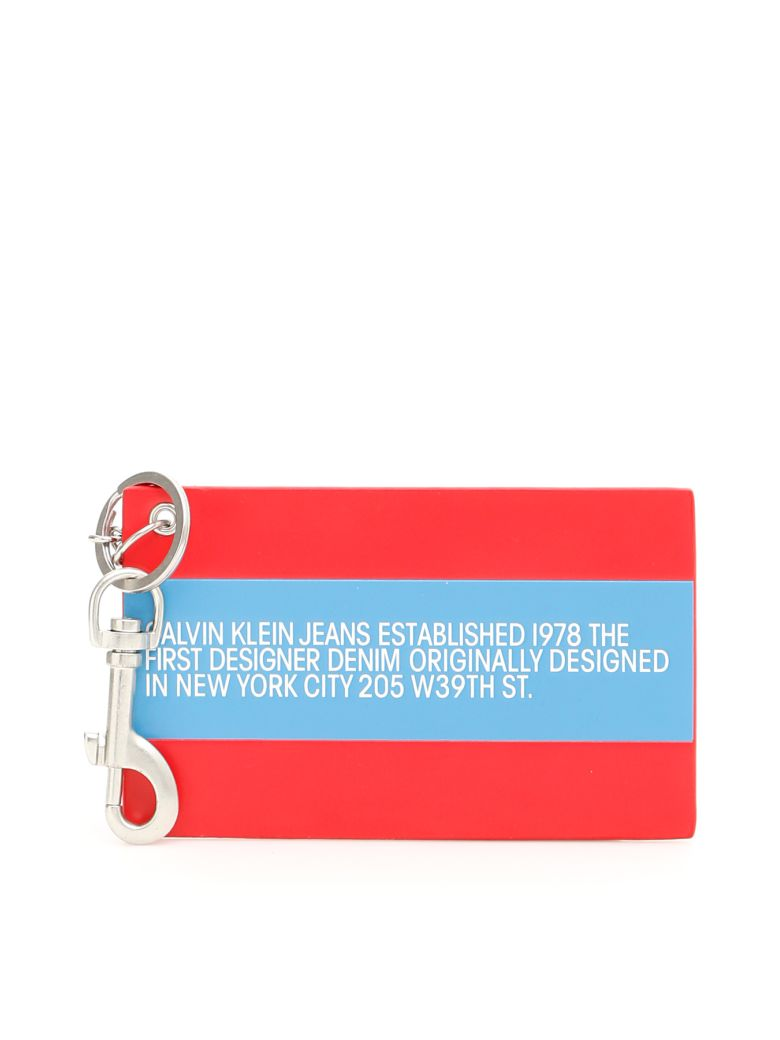 Calvin Klein Unisex Logo Key Charm - PATCH RED|Rosso