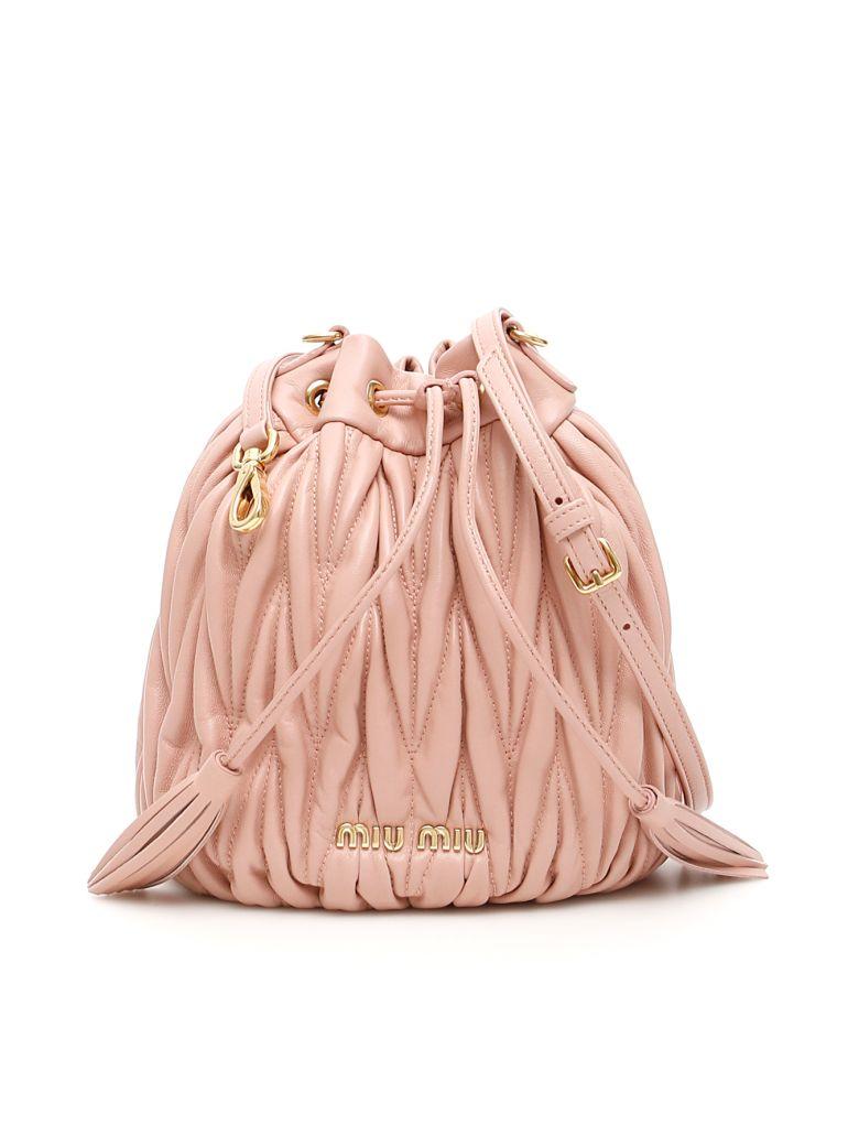 Miu Miu Quilted Bucket Bag - ORCHIDEA (Pink)