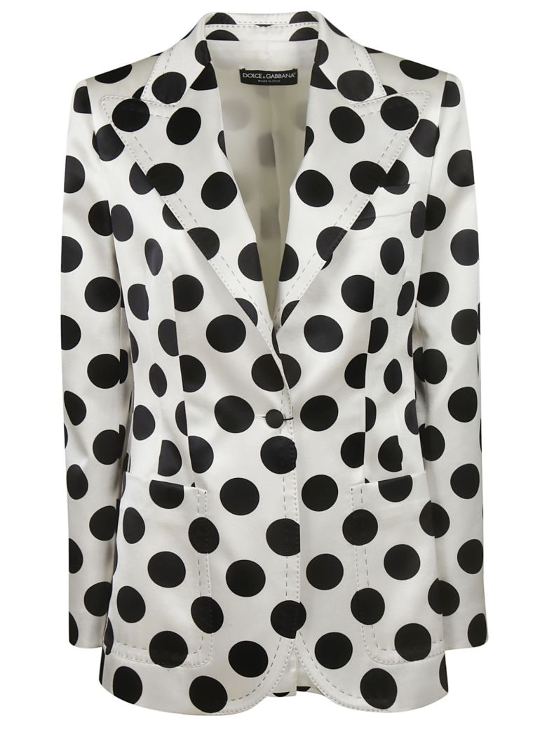 Dolce & Gabbana Polka Dot Blazer - White/Black