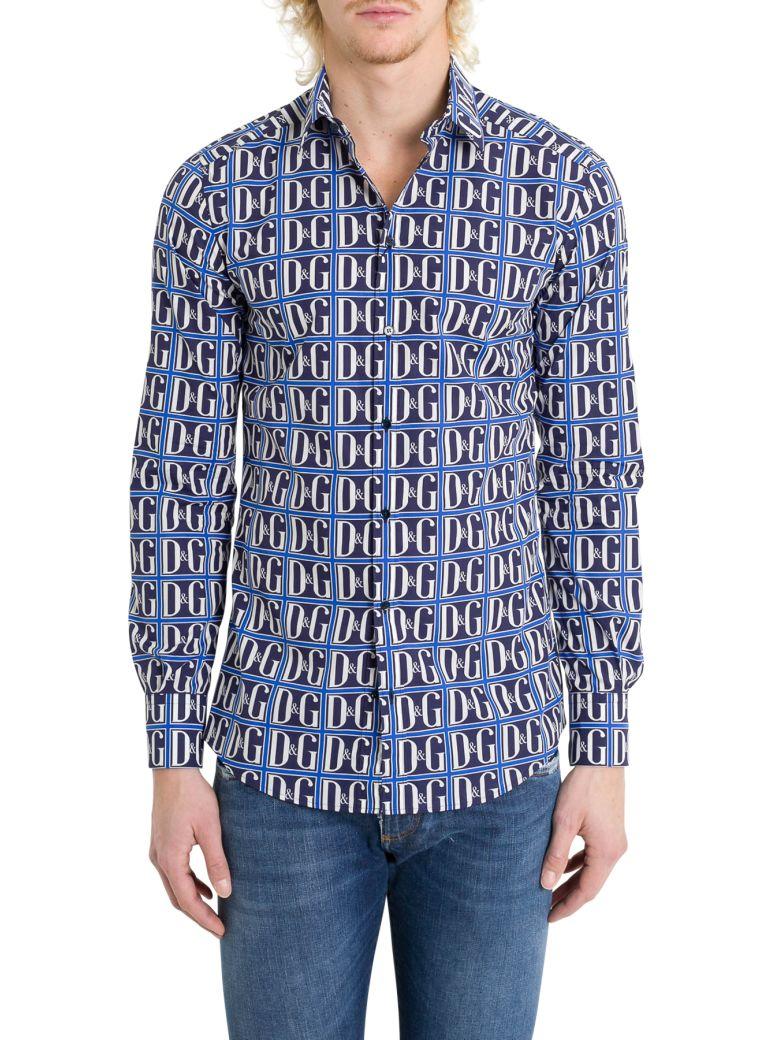 Dolce & Gabbana Monogram Shirt - Blu