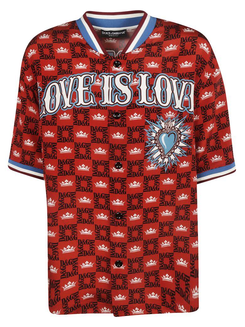 Dolce & Gabbana Buttoned T-shirt - Red