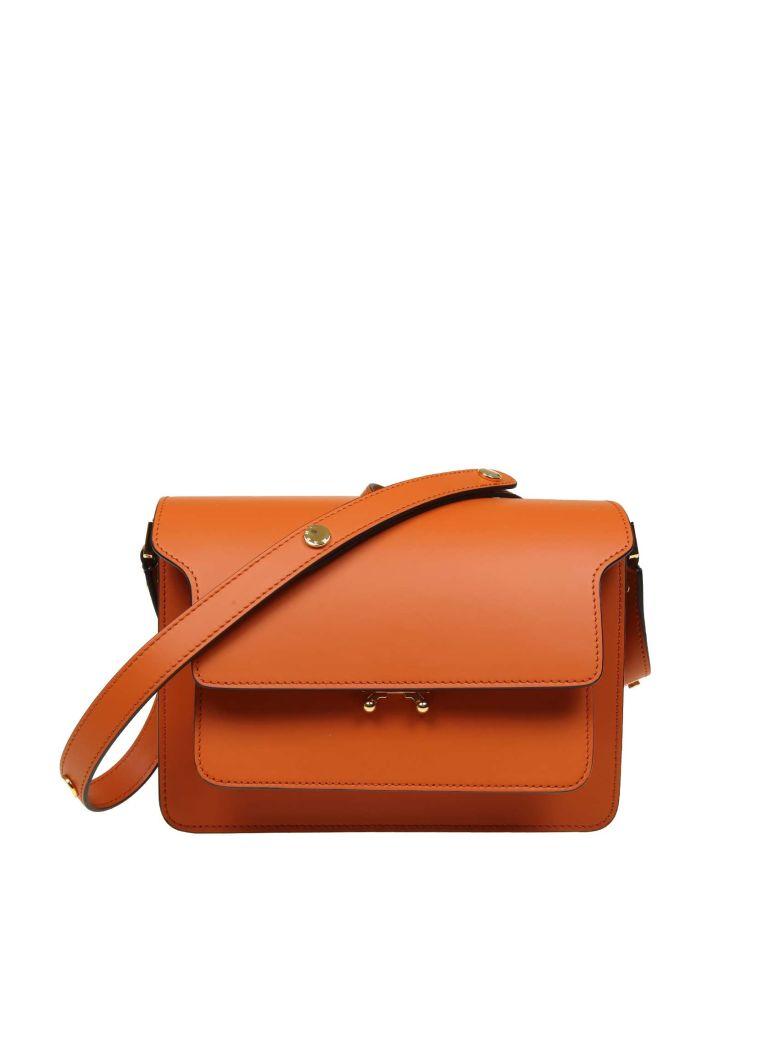 Marni Bag Trunk Bag In Leather Color Orange - Orange
