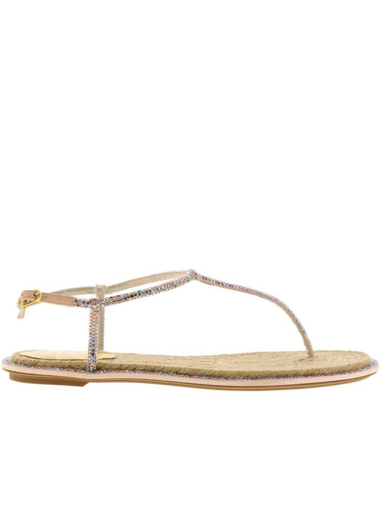 René Caovilla Rene Caovilla Flat Sandals Shoes Women Rene Caovilla - Beige