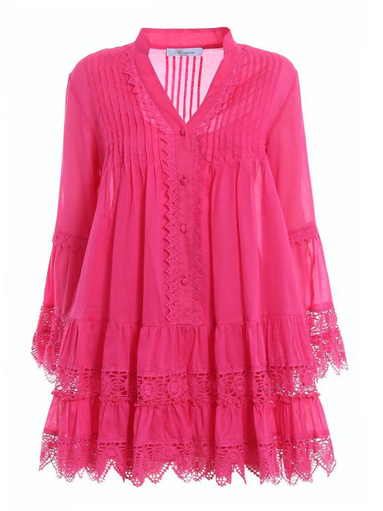 Blumarine Lace Dress - Fuxia