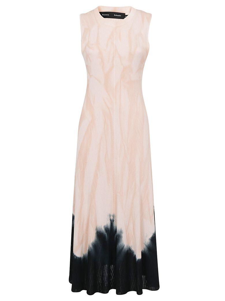 Proenza Schouler Rixo Dress - Dark salmon/black