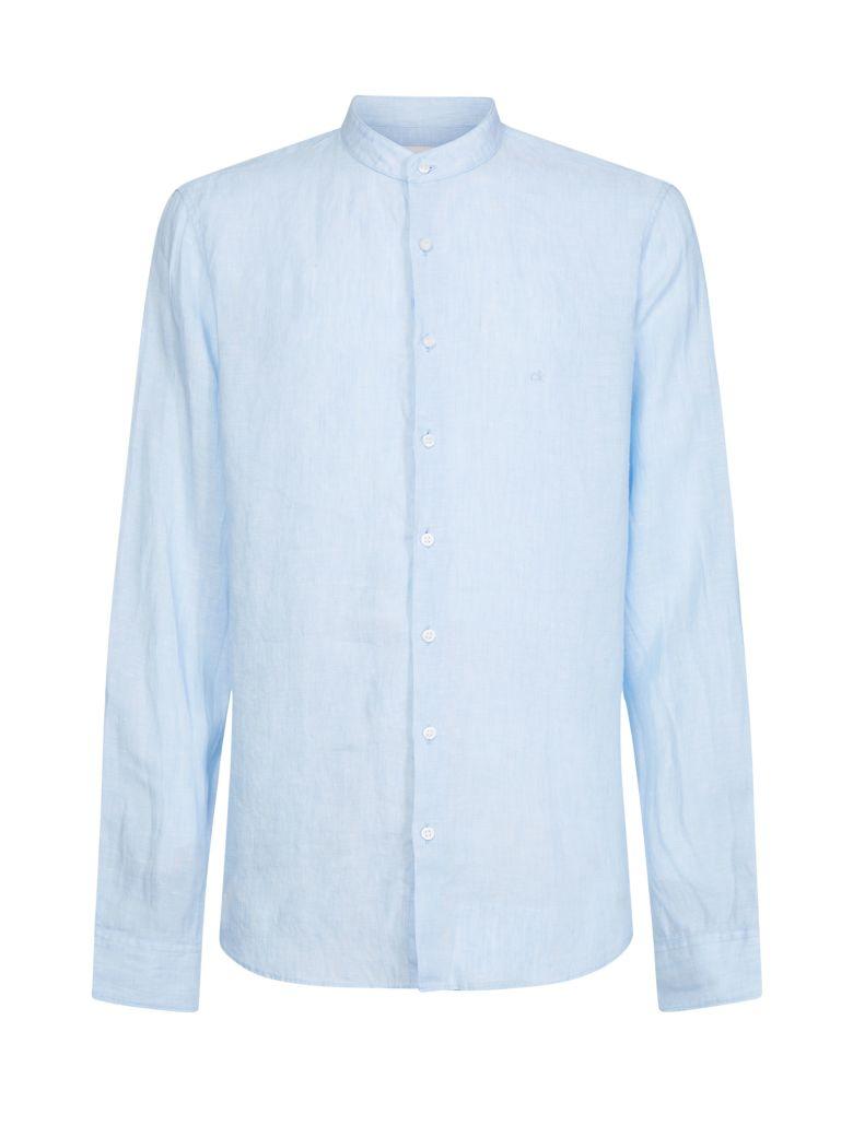 Calvin Klein Calvin Klein Mao Collar Shirt - AZZURRO