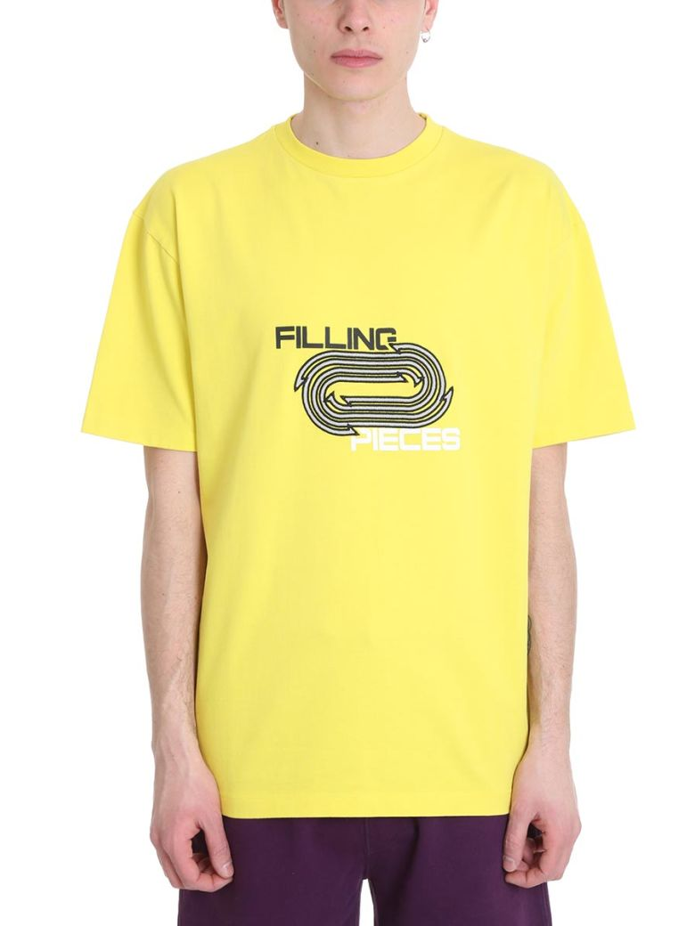 Filling Pieces Yellow Cotton T-shirt - Yellow