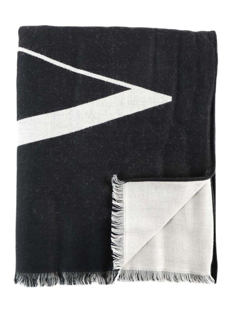 Valentino Garavani Vltn Logo Scarf - Ni Black/white