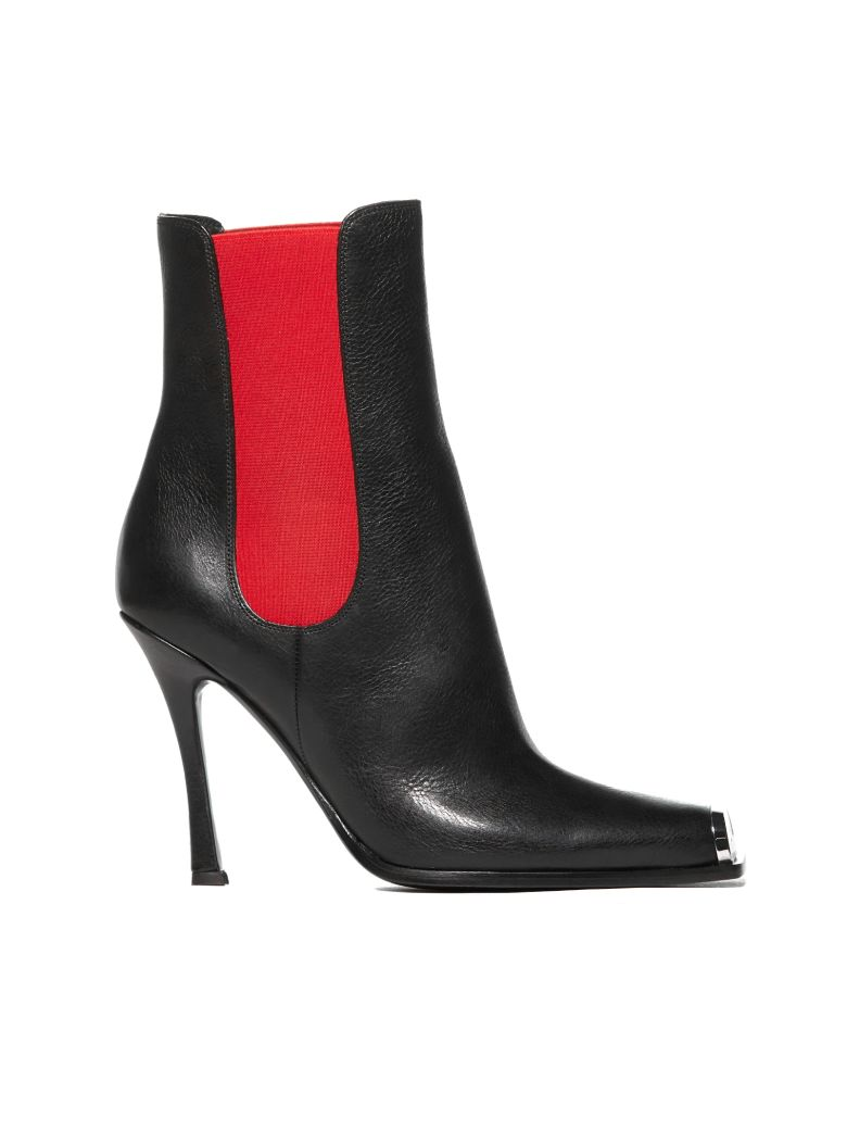 Calvin Klein High Heel Ankle Boots - Nero rosso