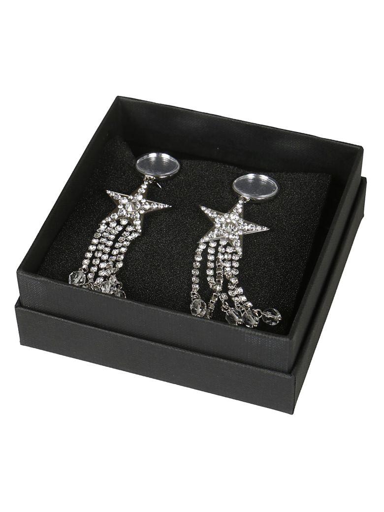 Miu Miu Star Crystal Earrings - Silver