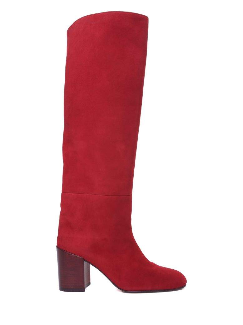 Stuart Weitzman The Tubo Suede Boots - Rosso