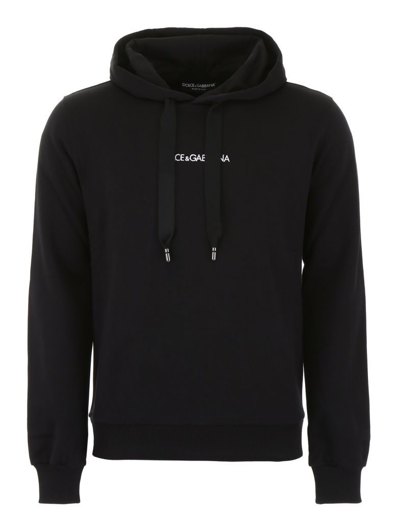 Dolce & Gabbana Hoodie With Embroidered Logo - Basic