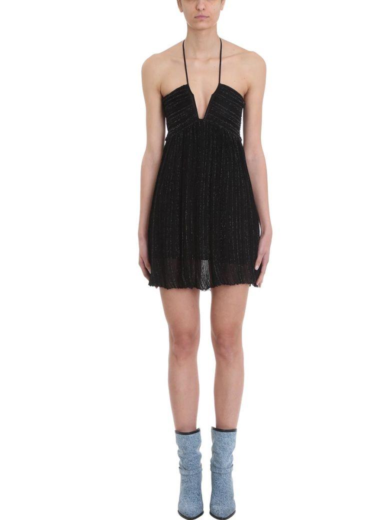 Isabel Marant Black Viscose And Lurex Blend Dress - black