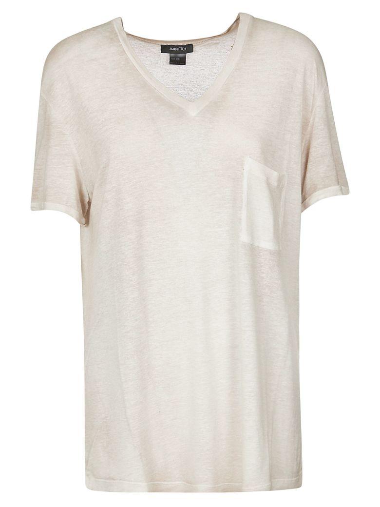 Avant Toi Loose V-neck T-shirt - Beige