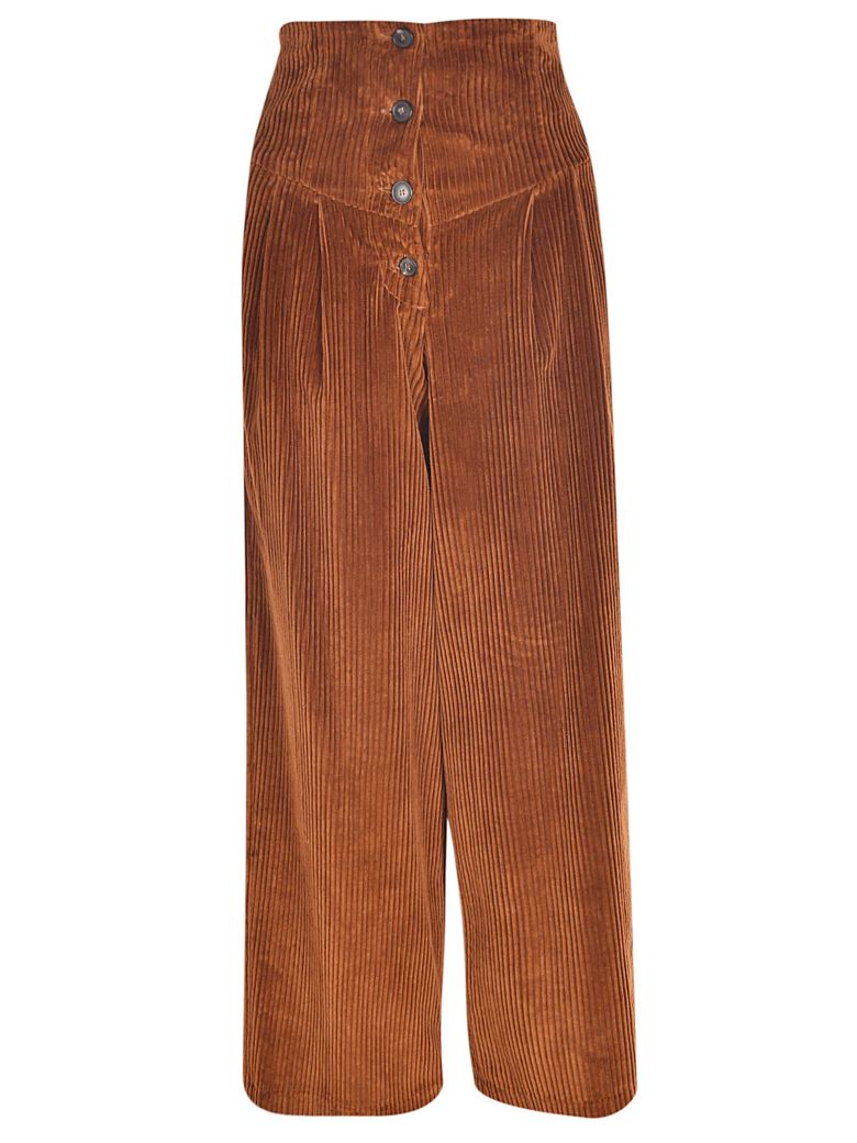 Tela 9 High Rise Corduroy Jeans - Brown