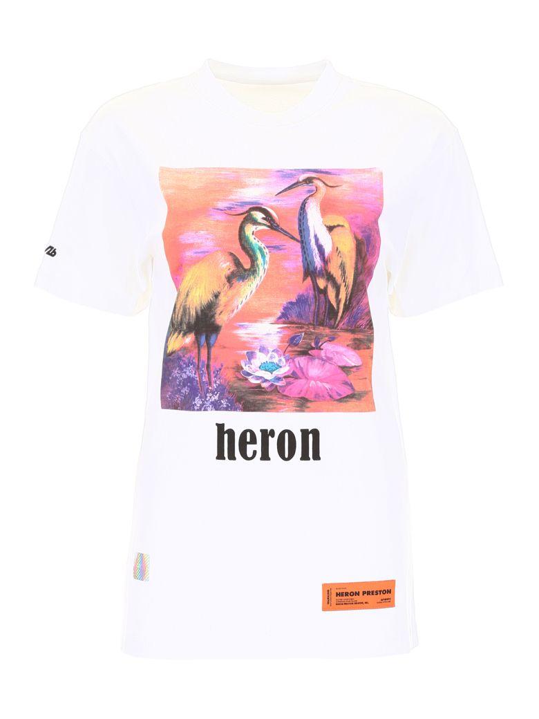 HERON PRESTON Heron Birds T-shirt - WHITE MULTI (White)