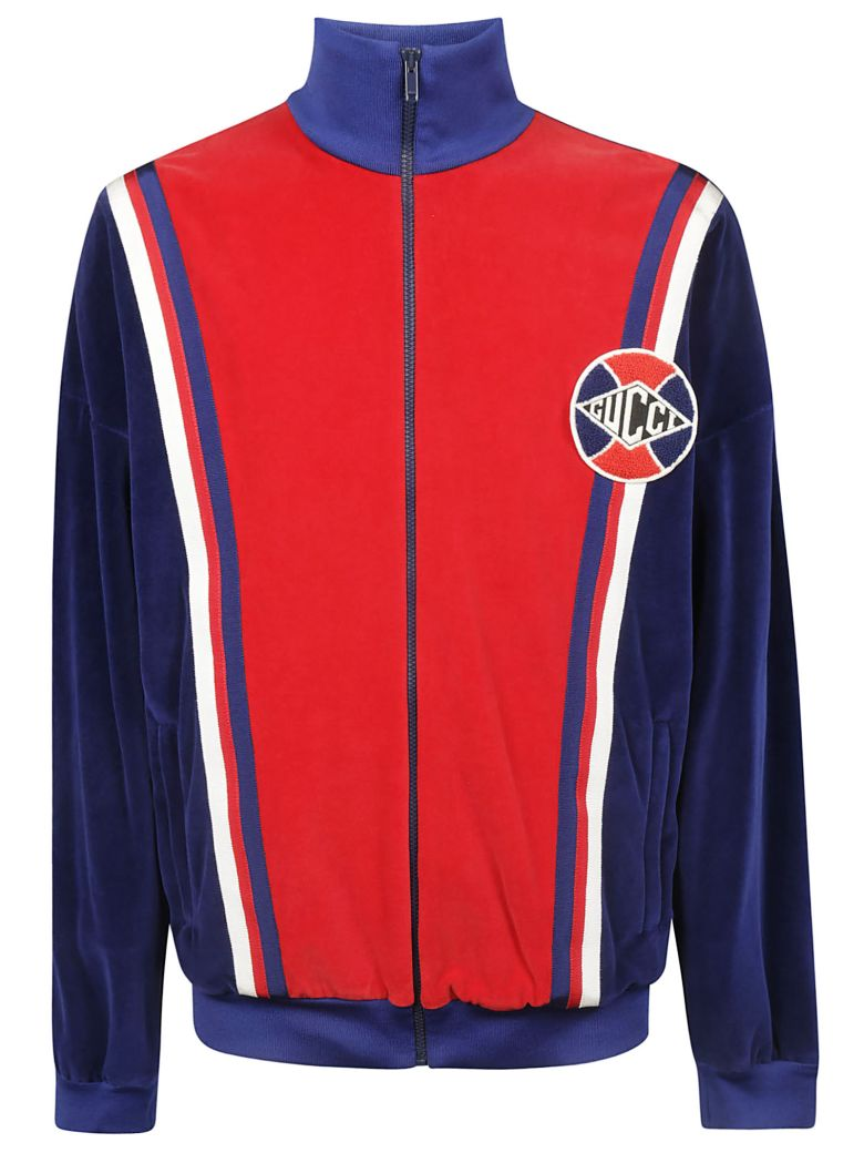 Gucci Paneled Track Jacket - Inchiostro Live Red