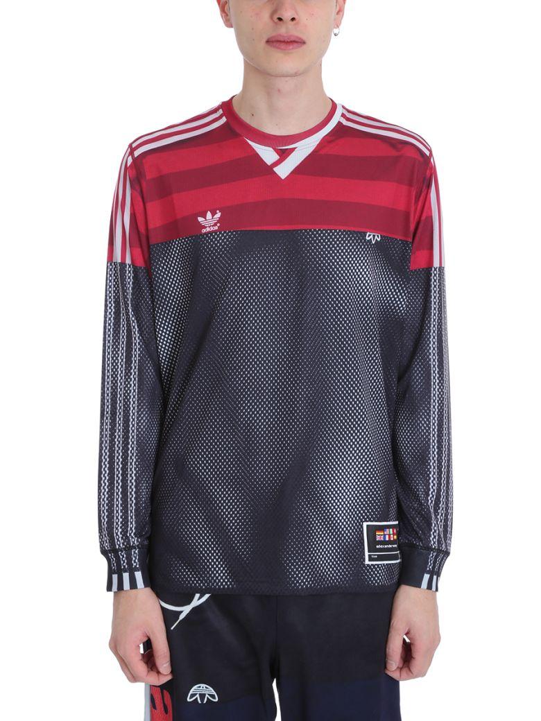 d9f7a63a Adidas Originals by Alexander Wang Adidas Originals by Alexander Wang  Black-red Polyester Photocopy Ls T-shirt - black - 10783833   italist