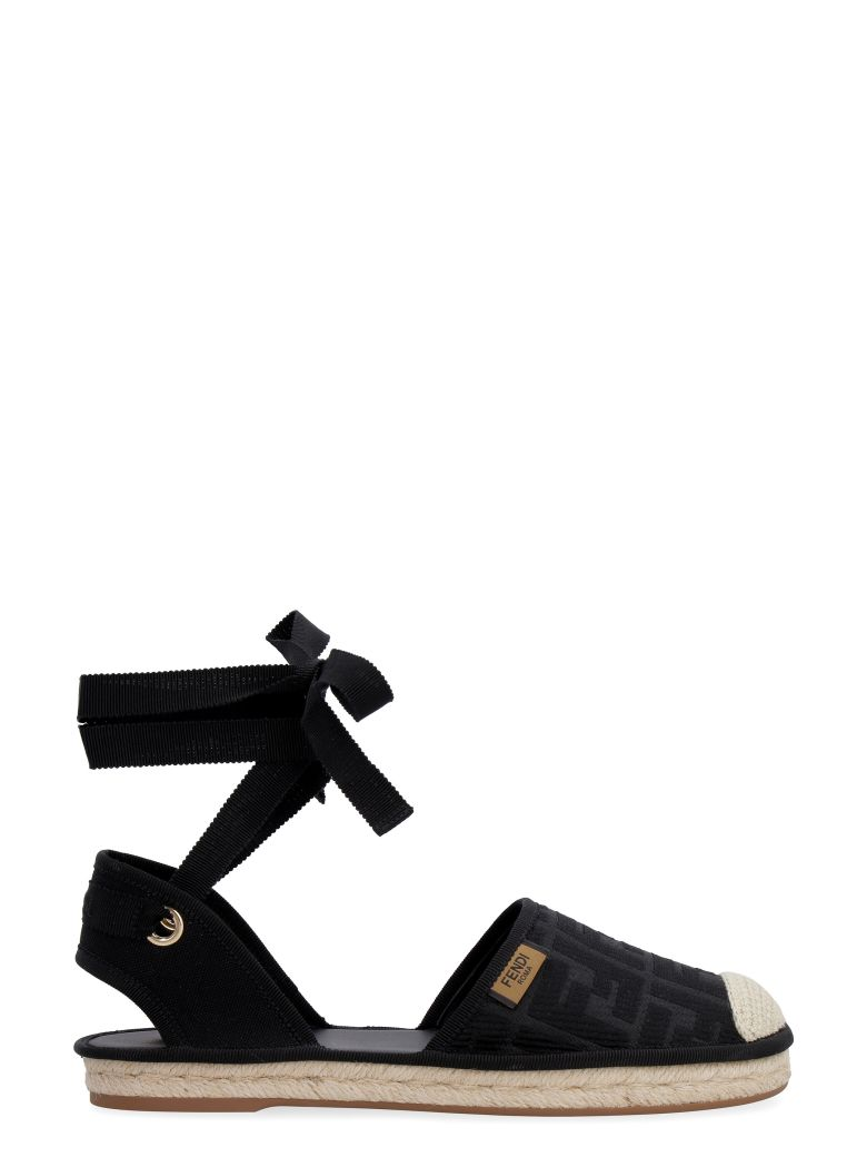 Fendi Canvas Espadrilles - Black