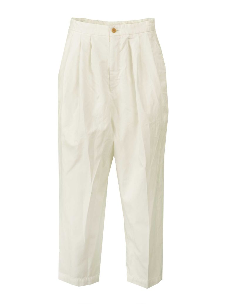 Comme des Garçons Comme des Garçons Comme Des Garçons Cropped Trousers - White