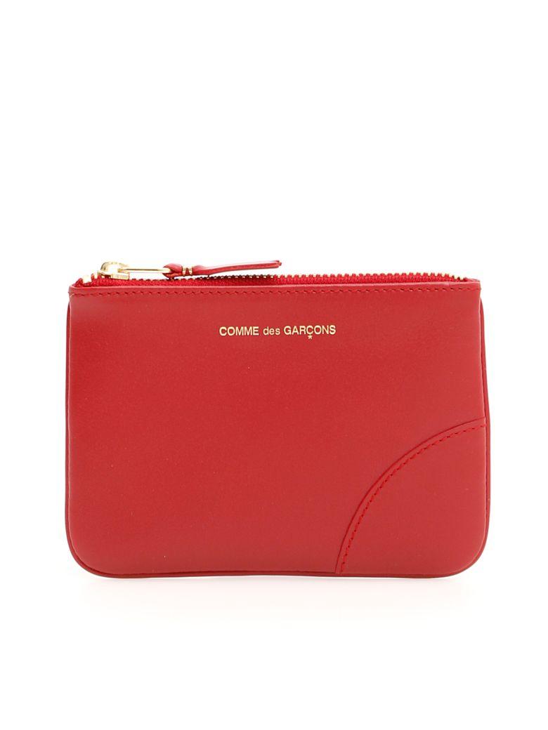 Comme des Garçons Wallet Unisex Color Block Pouch - RED|Rosso