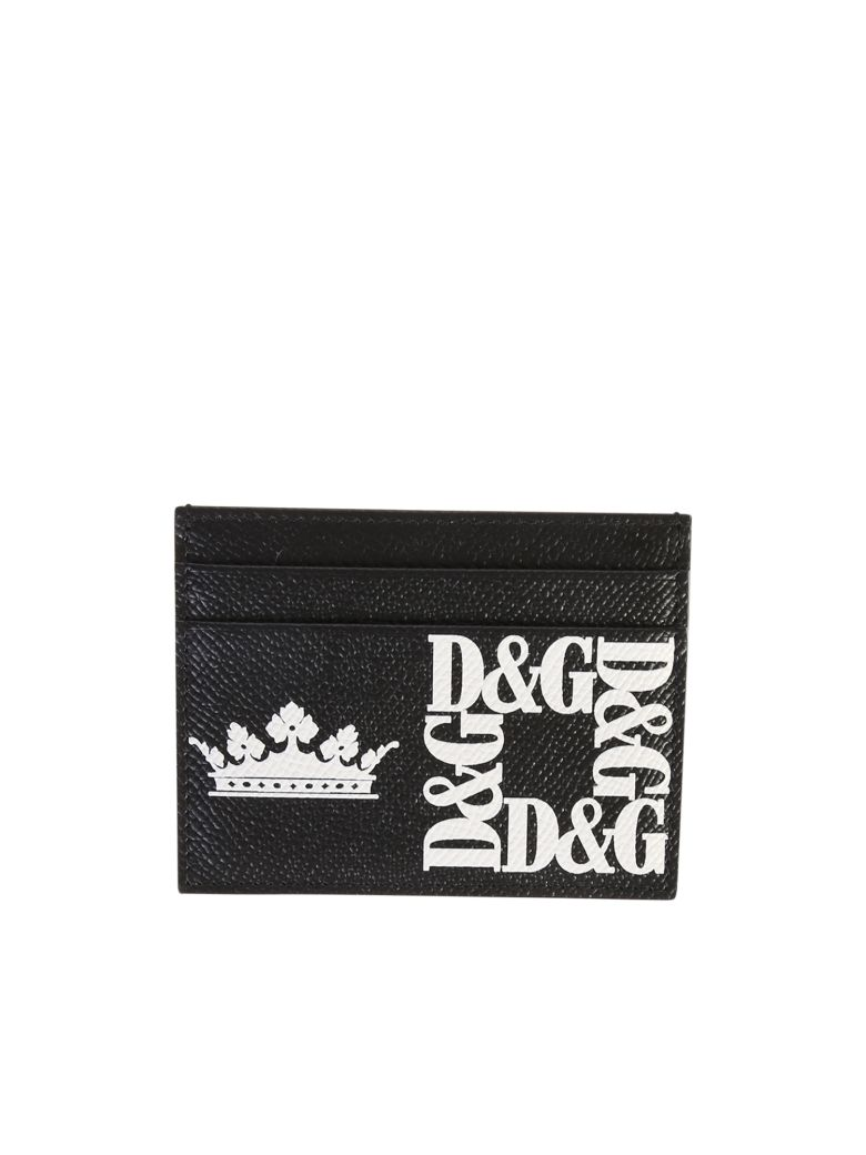 Dolce & Gabbana Printed Card Holder - Black
