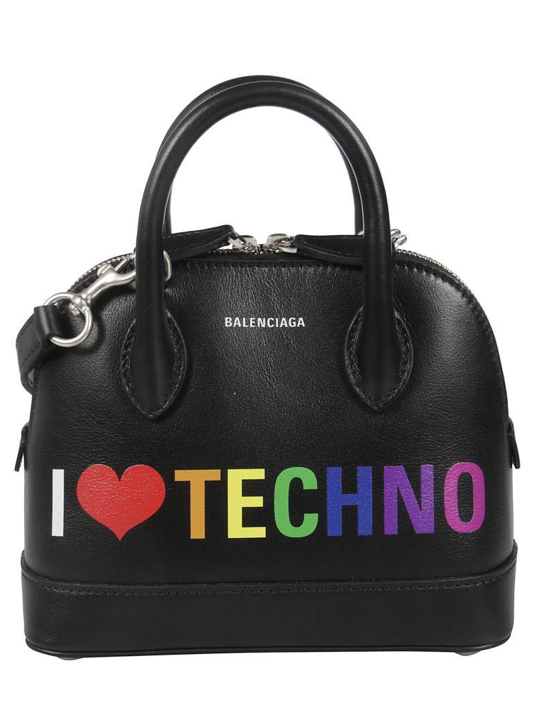 Balenciaga Extra Extra Small I Love Technoville Tote - Noir