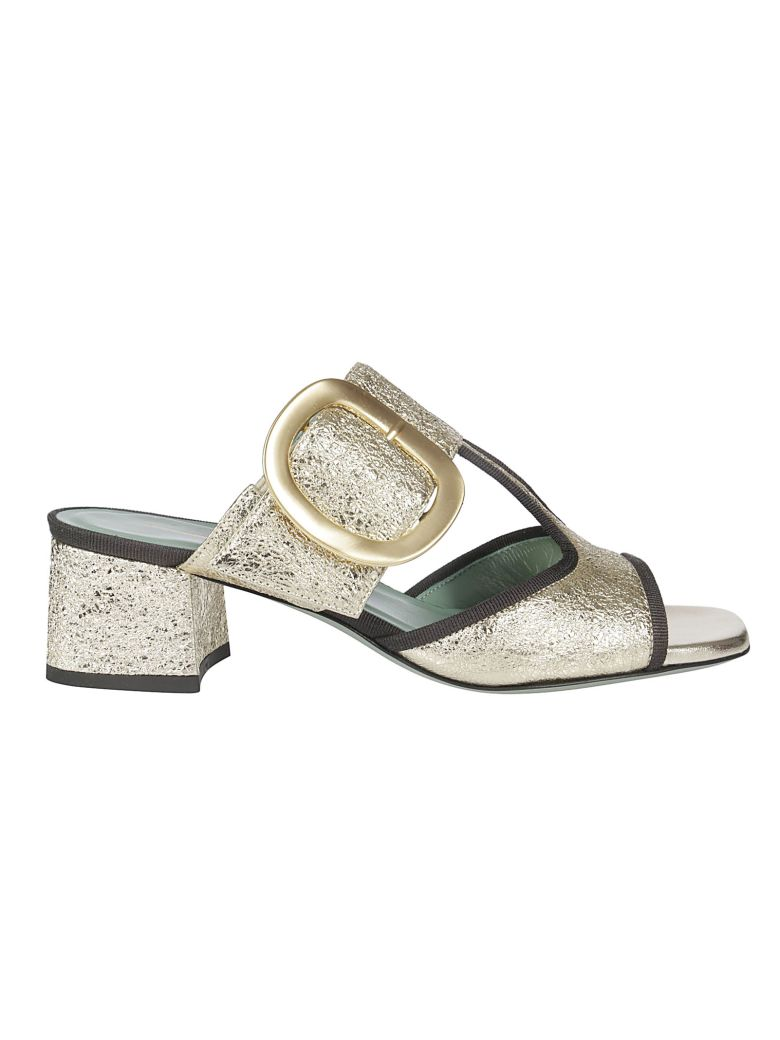 Paola D'Arcano Buckled Sandals - Gold