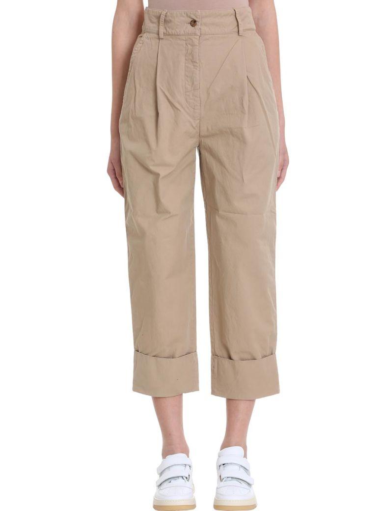Acne Studios Phaedra Beige Cotton And Linen Trousers - beige
