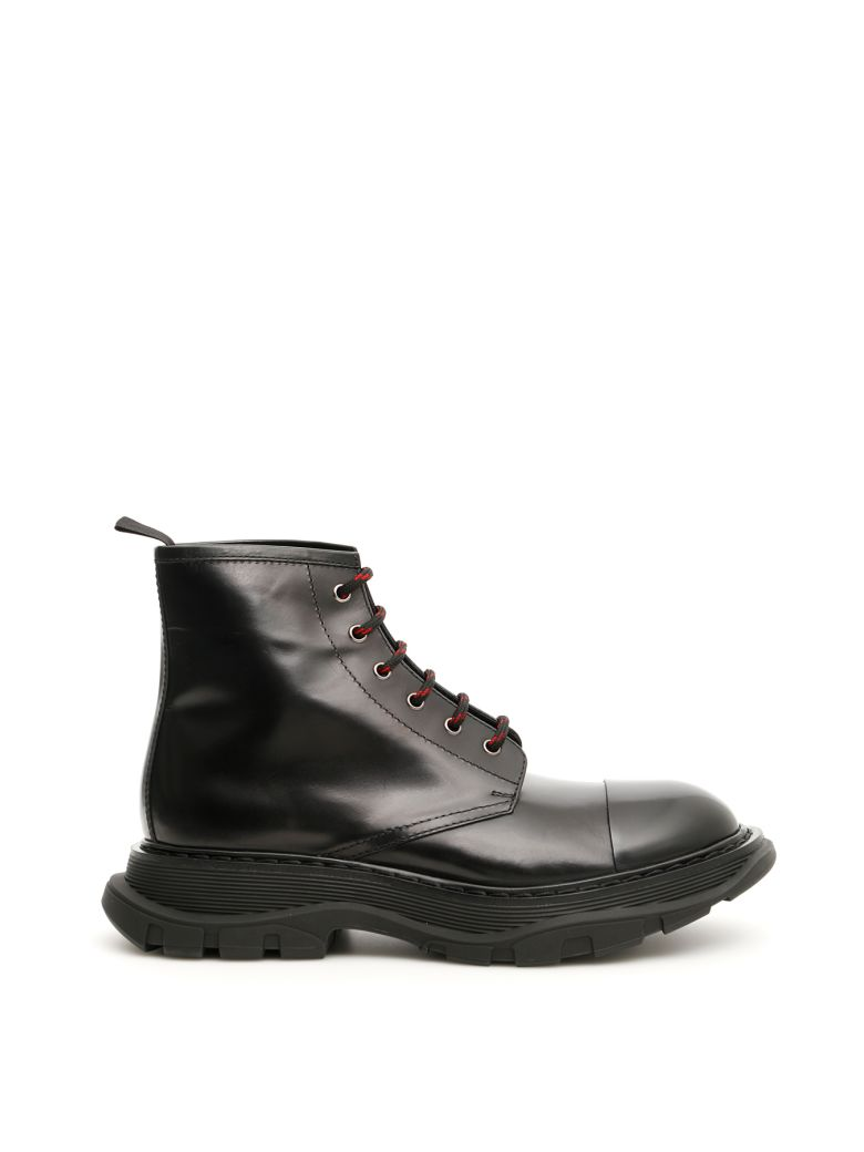 Alexander McQueen Lace-up Boots - BLACK BLACK|Nero