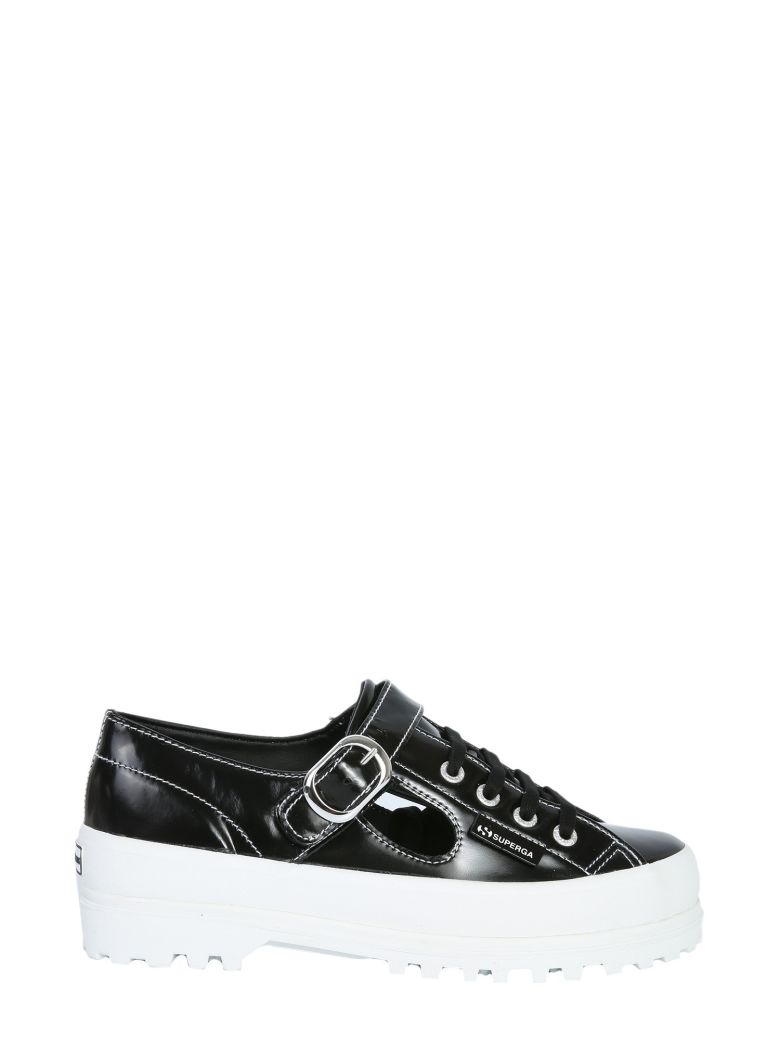 Superga Cut Out Alpina Sneakers - Black