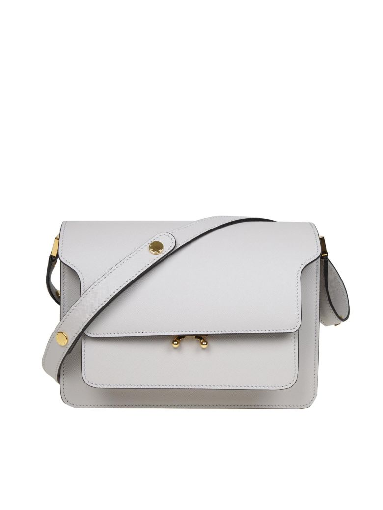 Marni Trunk Bag In Leather - Gray