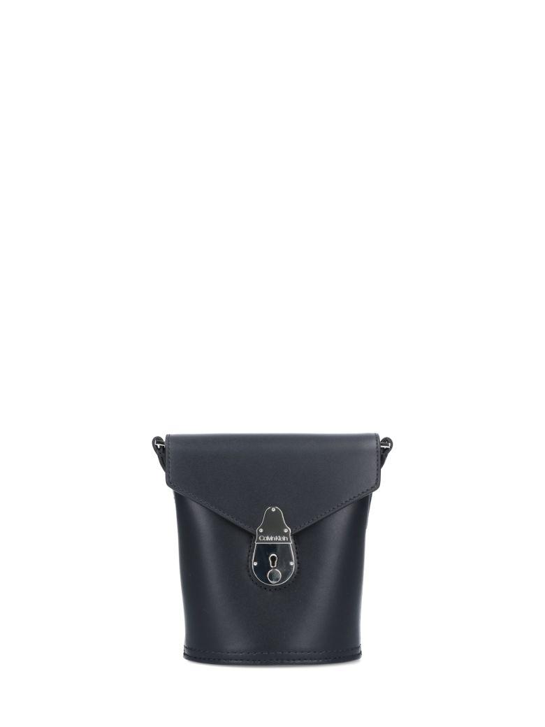 Calvin Klein Lock Micro Bucket Bag - Black