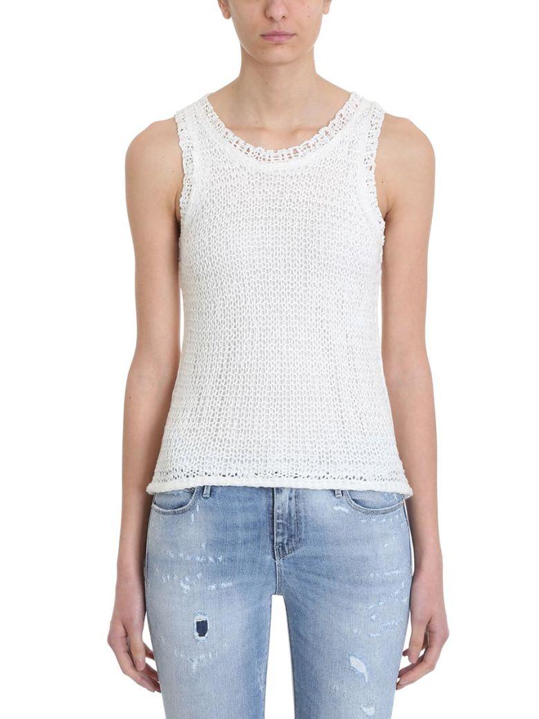 RTA Stretch Net Cotton Top - White