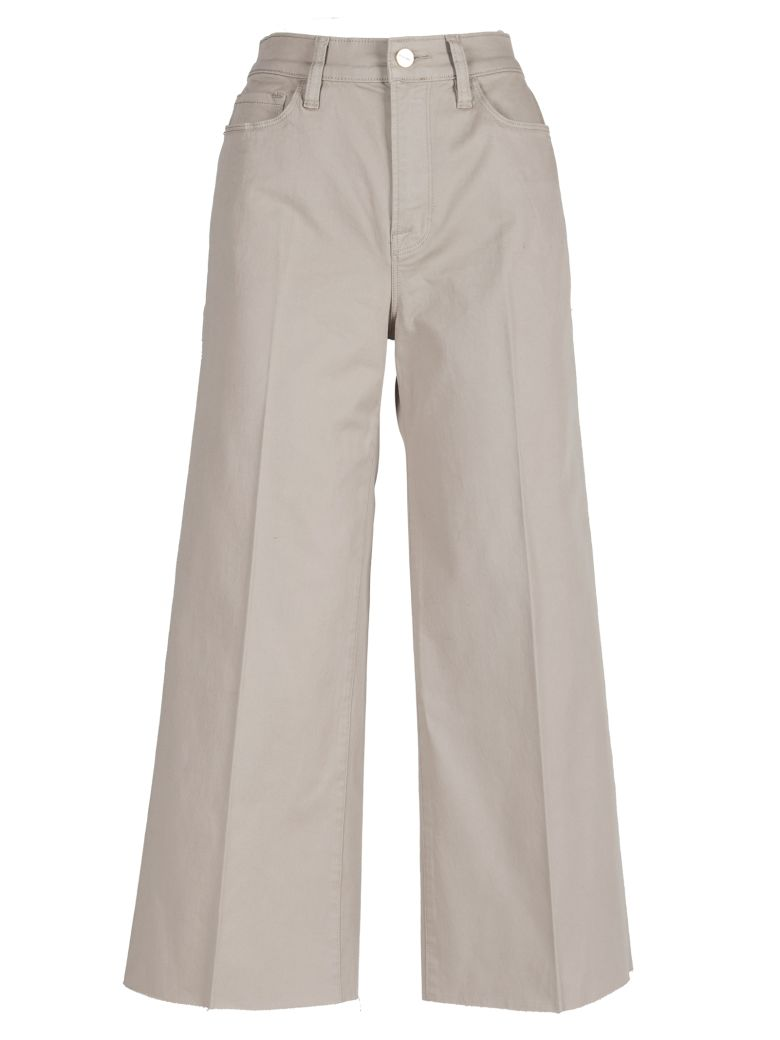 Frame Cropped Trousers - Nude & Neutrals