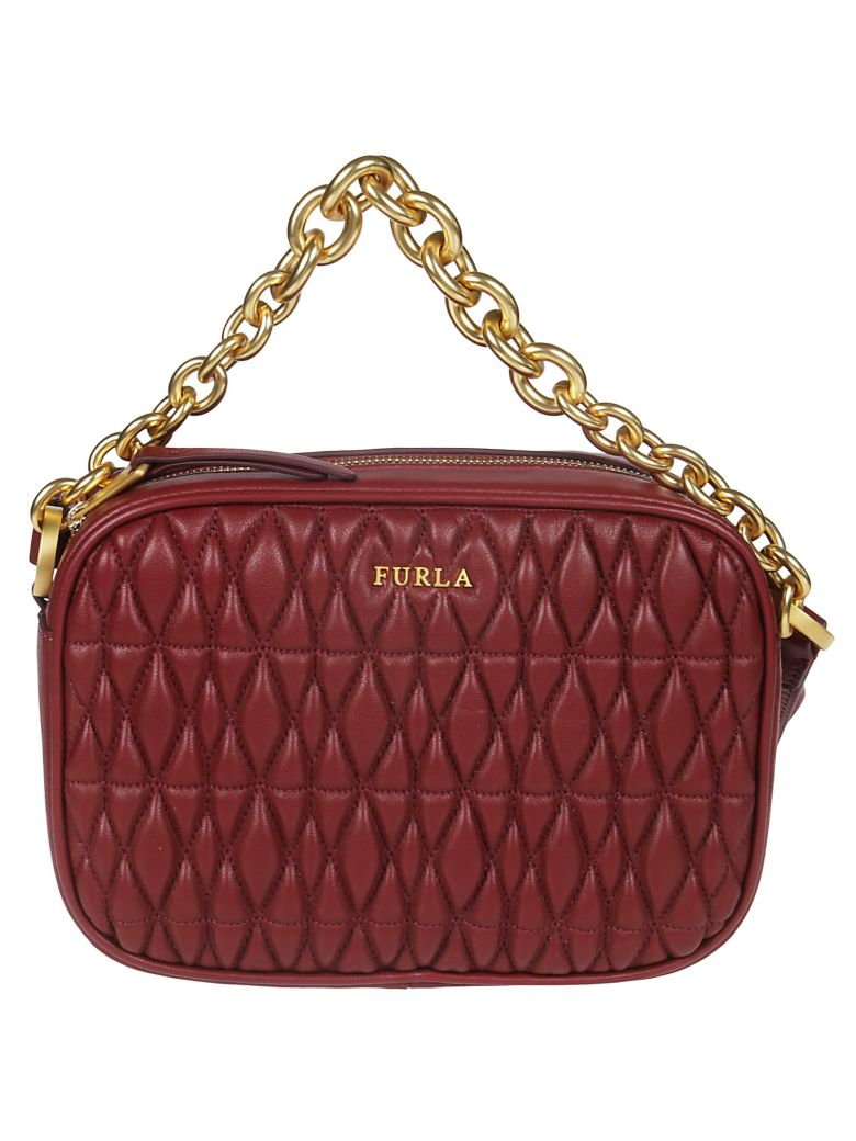 Furla Cometa Quilted Shoulder Bag - Cherry