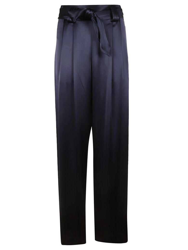 Tory Burch Wide Leg Trousers - navy